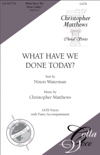 What Have We Done Today? | 16-96730